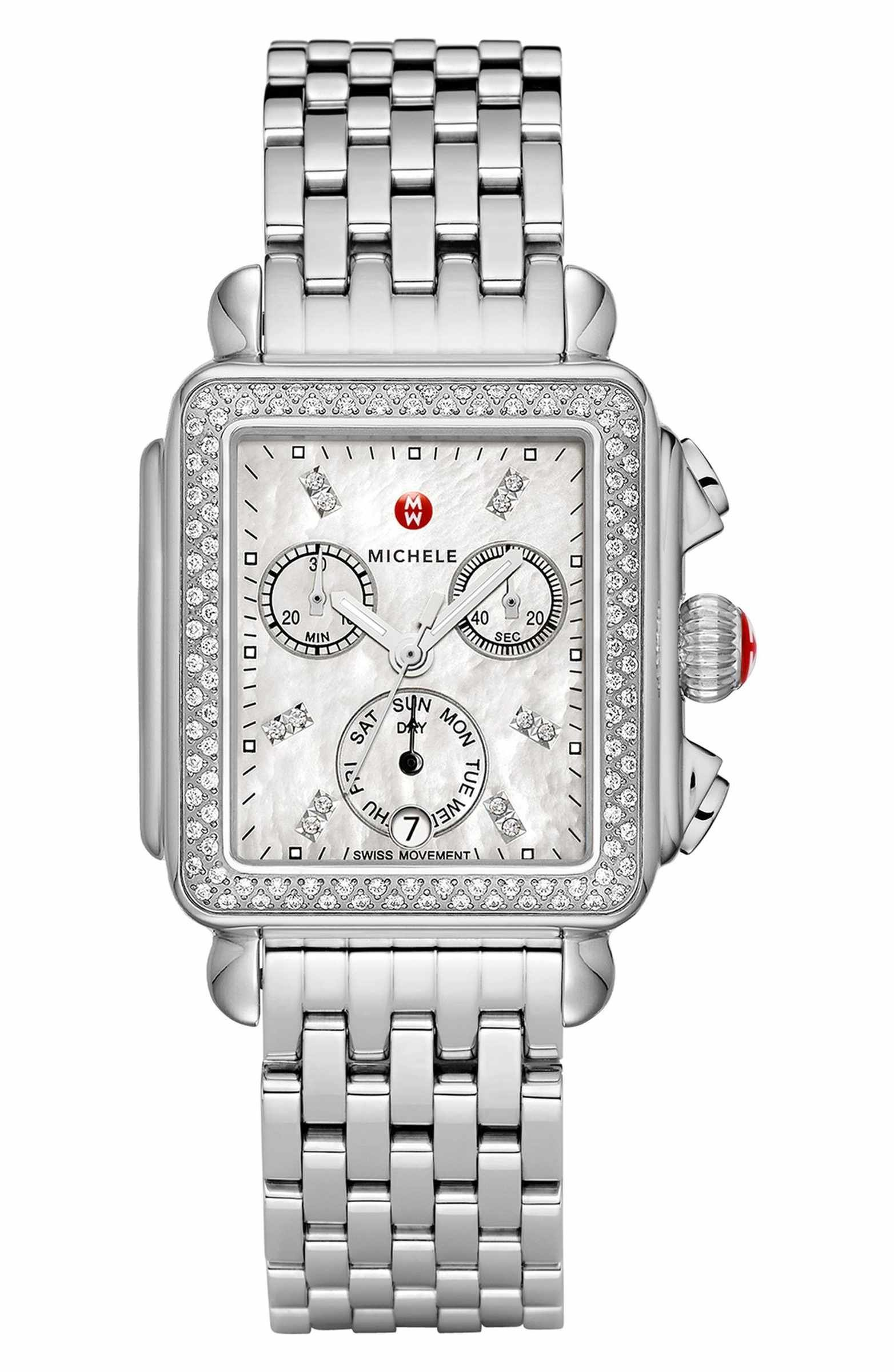 Deco diamond diamond dial watch head mm x mm diamond