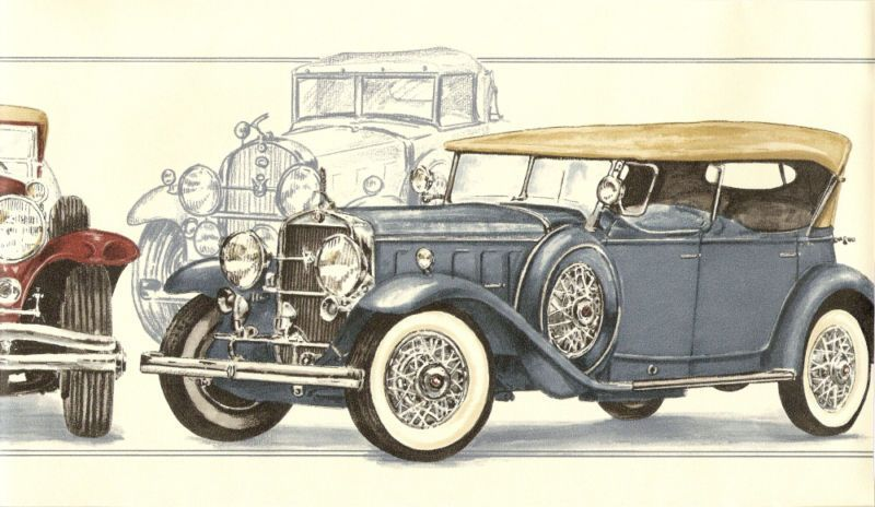 details about antique roadster touring cars blu wallpaper on border wall id=11298