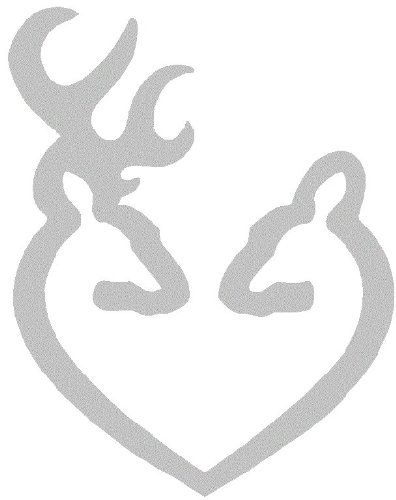 Deer Heart Browning Gun Logo Car Truck Notebook Vinyl Decal - Browning vinyl decals