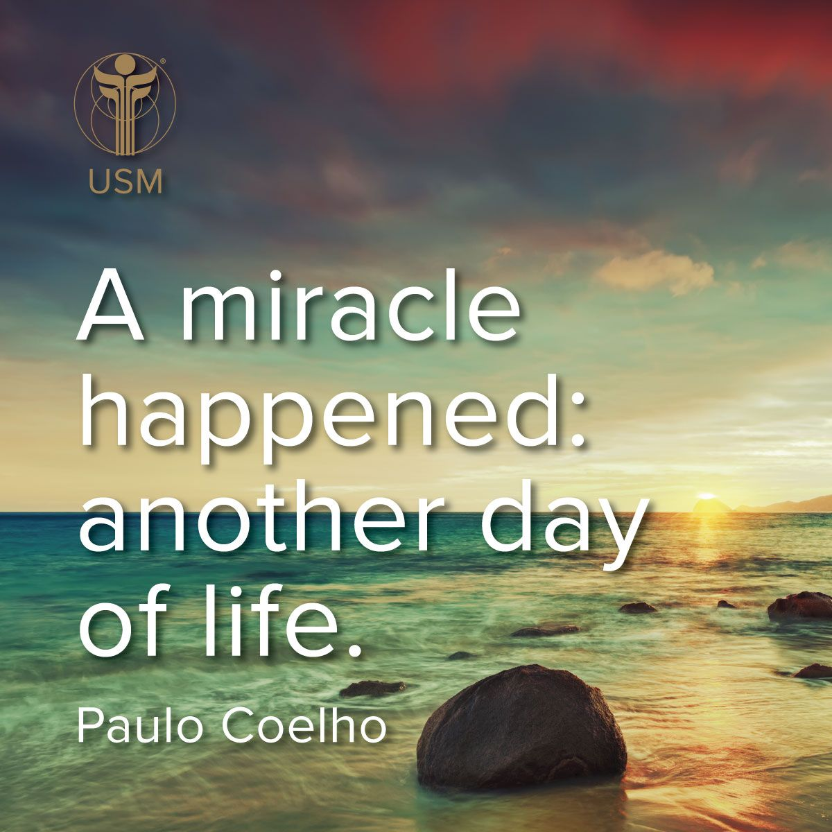 A Miracle Happened Another Day Of Life Paulo Coelho Quote