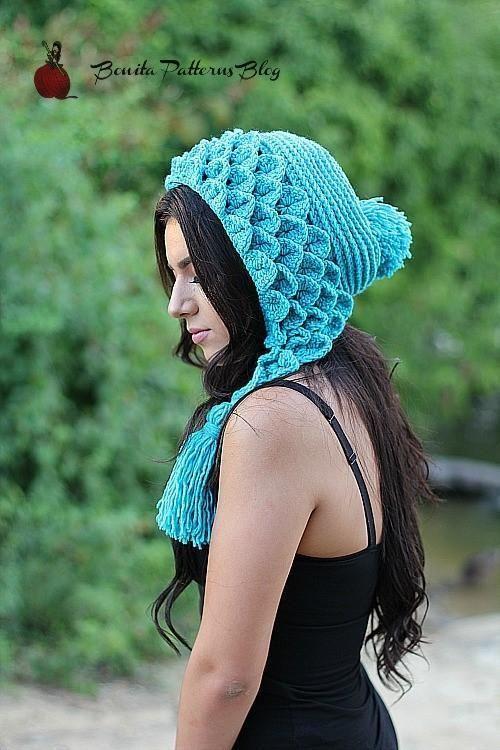 Crocodile Stitch Hat - Capuche Hood
