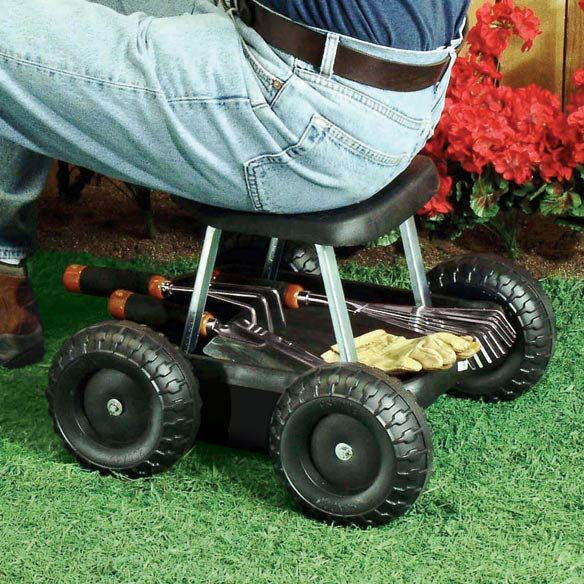 garden scooter seat. Rolling Garden Scooter Gardening Stool Pad Plant Seat W/ Wheels NO KNEALING ! I