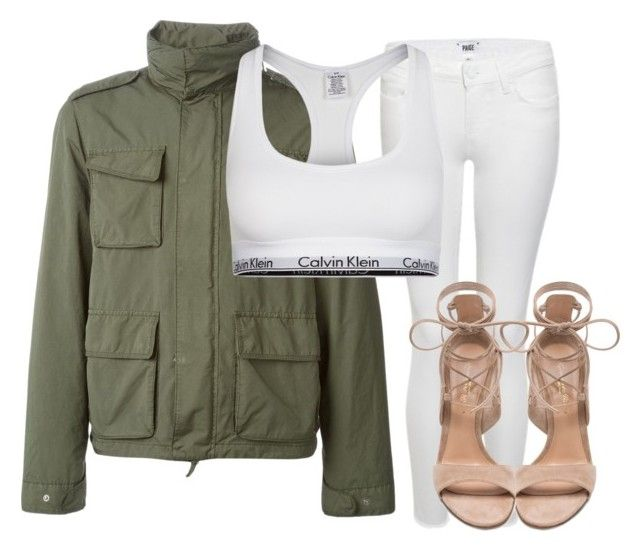 Untitled #961 by elinaxblack on Polyvore featuring polyvore, fashion, style, Paige Denim, Calvin Klein Underwear, Gianvito Rossi, Aspesi and clothing