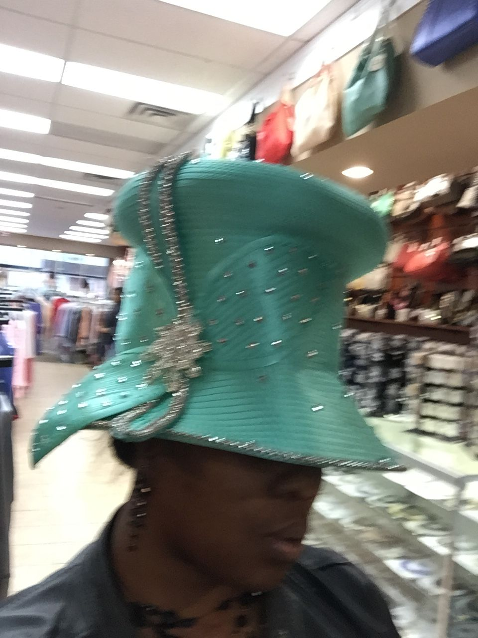 Mint green Hat . Love the style and color