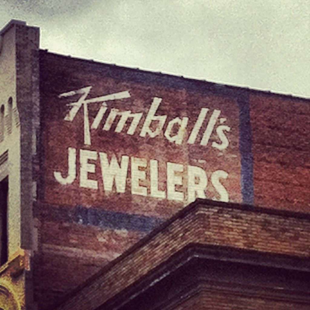 Photographs of Vintage Signs- Knoxville, TN- Southeastern Architecture. Kimballs Jewelers in downtown Knoxville.