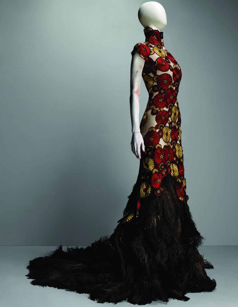 Rich Color With Flower Power Alexander Mcqueen Savage Beauty Alexander Mcqueen Dresses Fashion