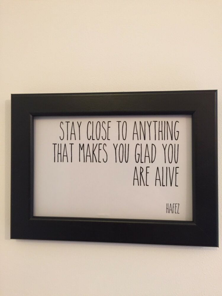 Inspirational Framed Quote Print Postcard Size In White Or Colour Ebay