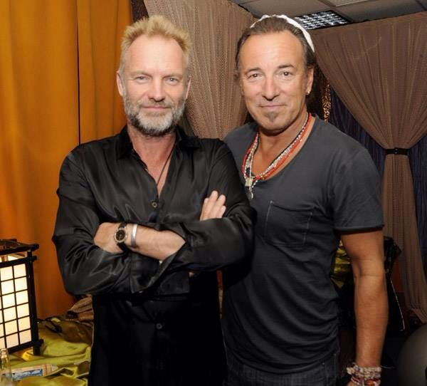 Sting and Bruce Springsteen