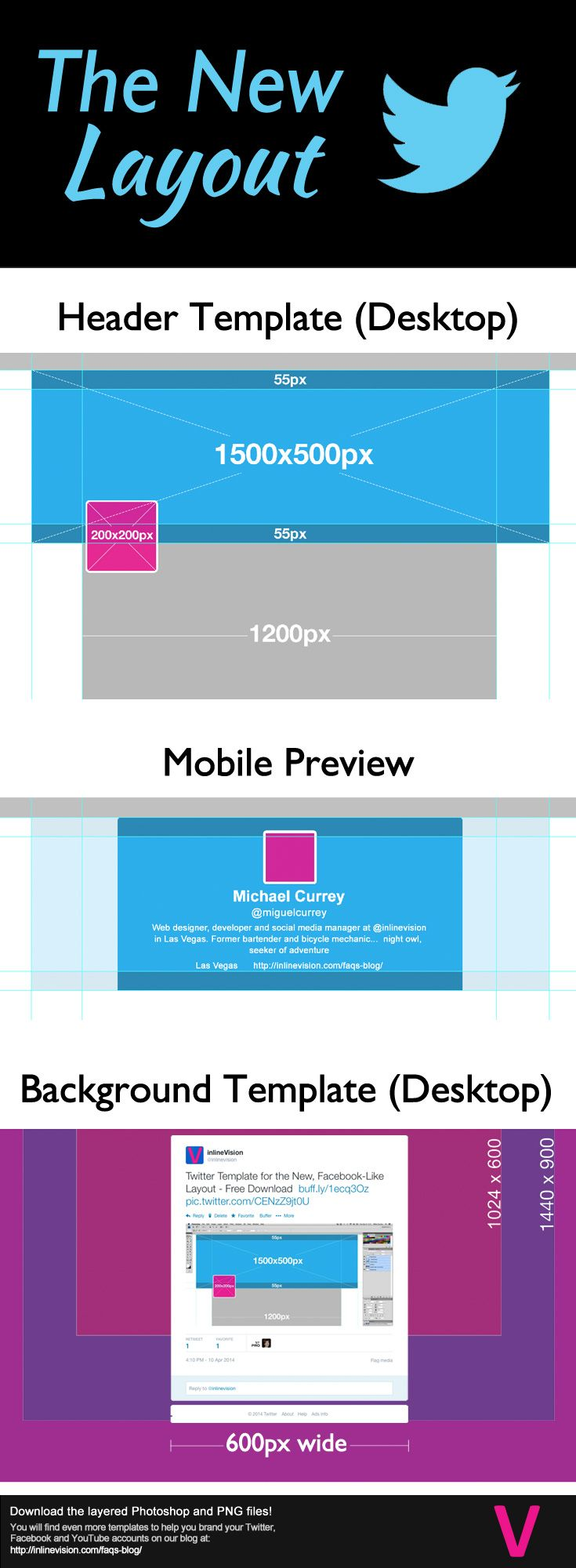 Updated specs for the new Twitter layout. Download the FREE ...