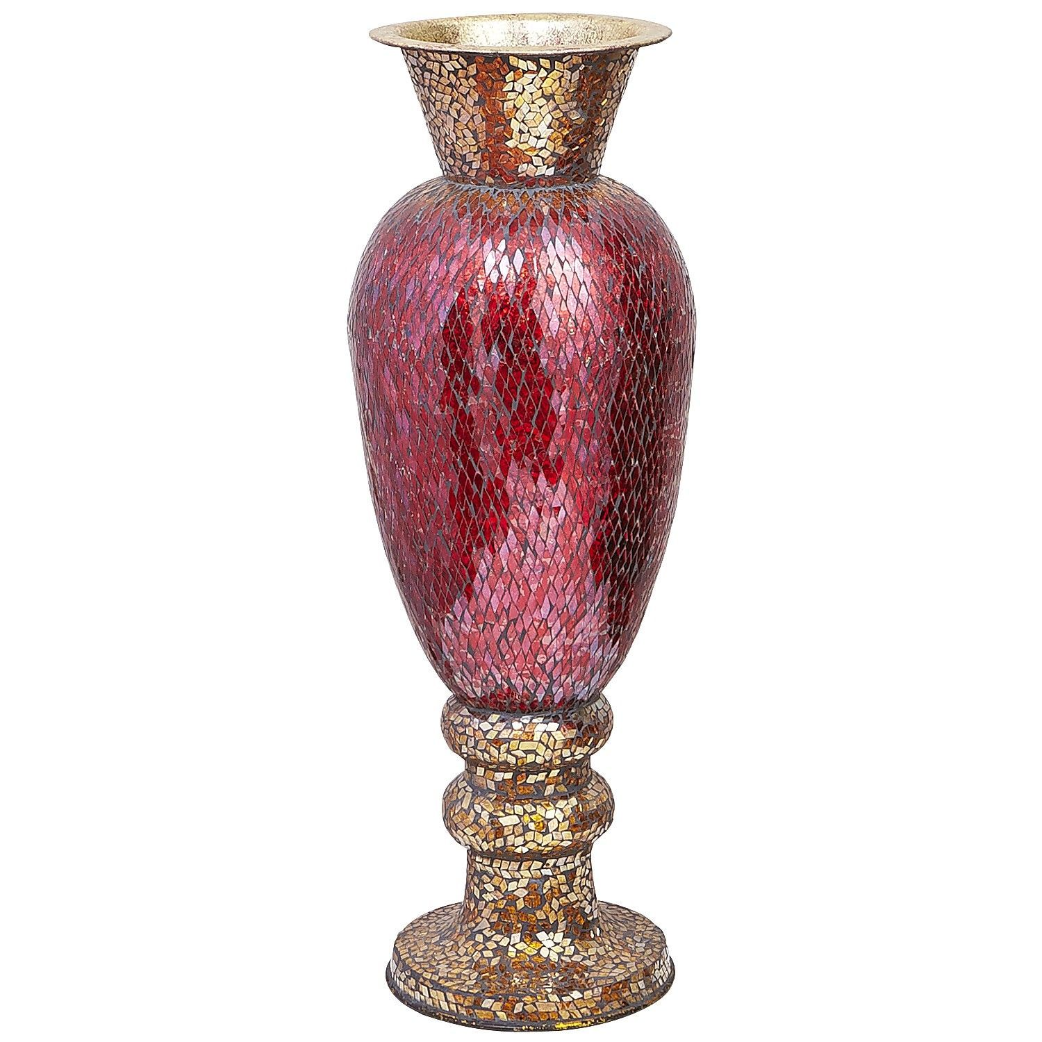 Large Decorative Urns And Vases Red & Gold Mosaic Urn Vase  Home Decor  Pinterest  Red Gold
