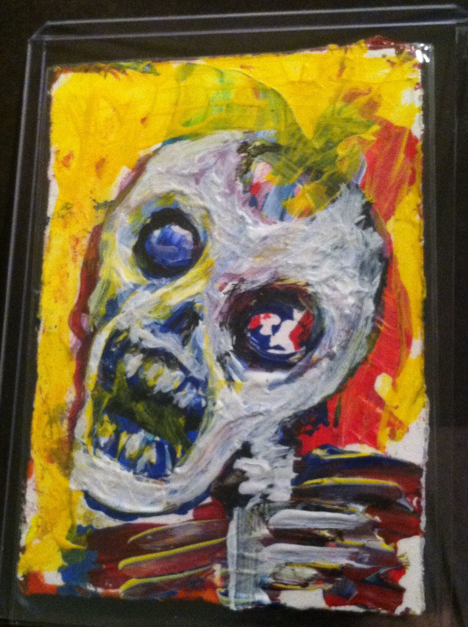 Abstract Zombie ACEO original art