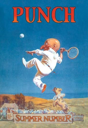 Gnome Playing Tennis 20x30 poster