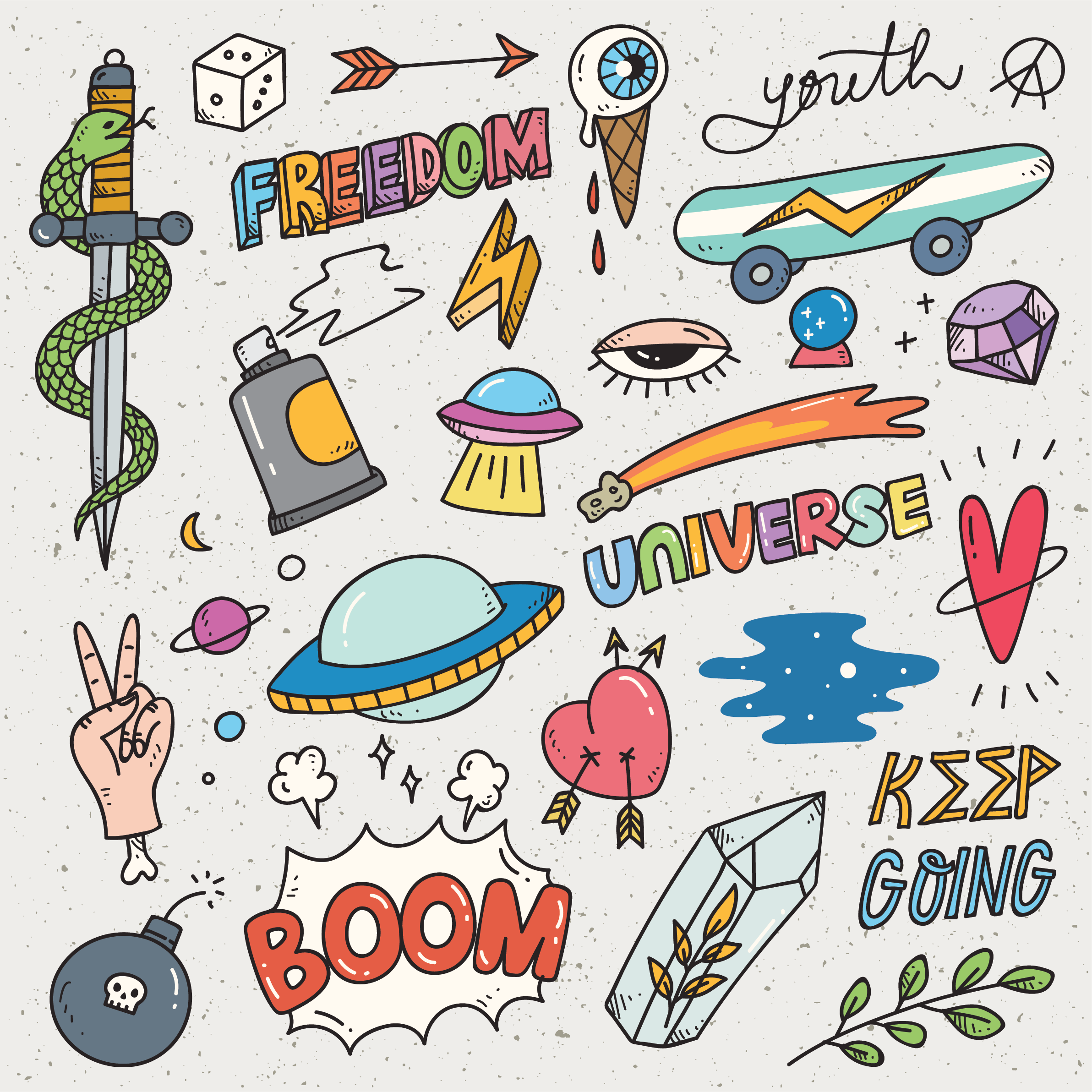 Rad Girly Grafitti Stickers Buy 2 Get 1 Free Buy 2 Of Our Sticker Sets And Get A 3rd Sticker Set Of Your Choosing F Graffiti Doodles Sticker Graffiti Doodles [ 2384 x 2384 Pixel ]