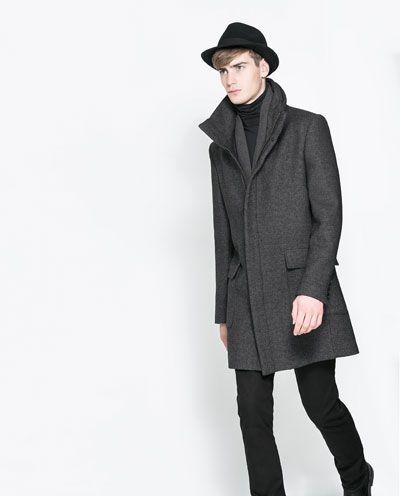 Zara Cuello Hombre Hombre Zara Abrigo Envolvente Abrigo Cuello 7xYRRqf
