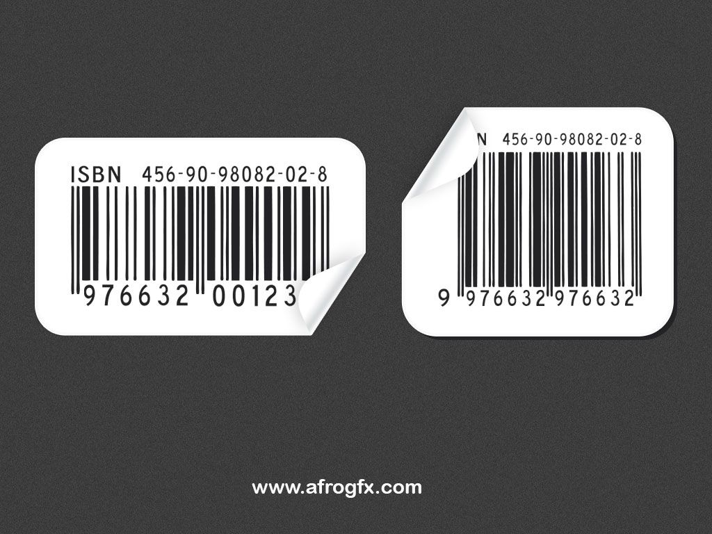 Barcode Sticker With Images Barcode Mockup Free Download