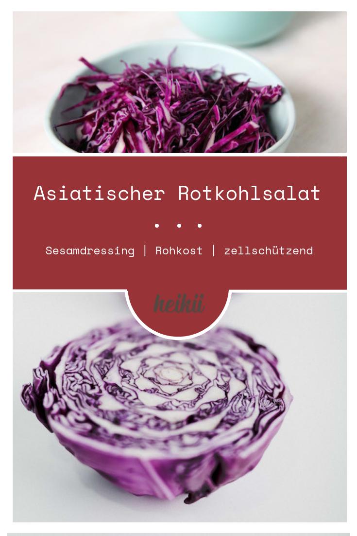 Asiatischer Rotkohl Salat – Rohkost – Essen