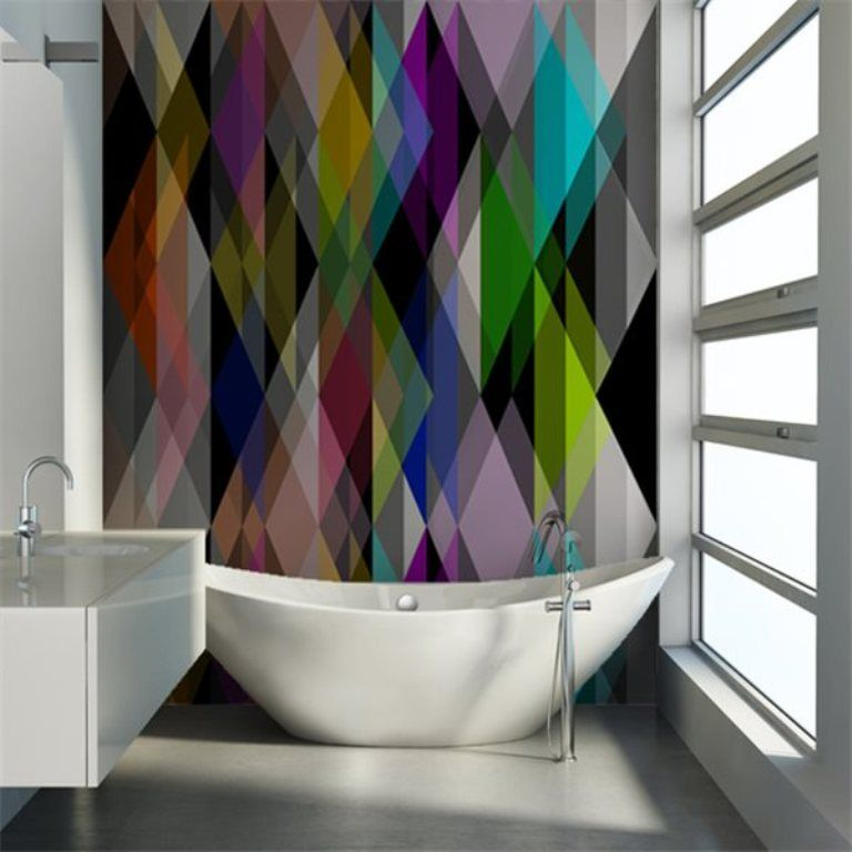 Best 25 Small bathroom wallpaper ideas on Pinterest   Half. Photo Collection Cool Bathroom Wallpaper