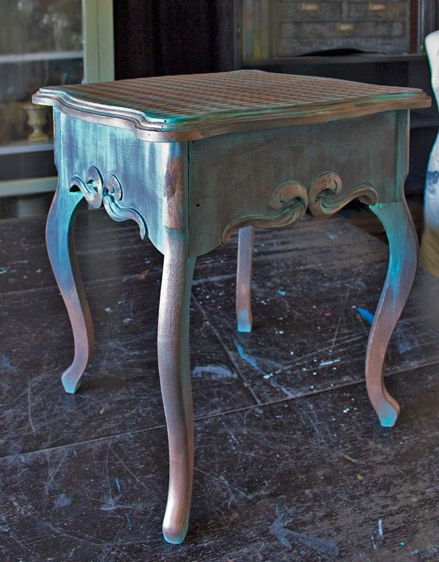 Create An Aged Copper Finish Copper Furniture Painted