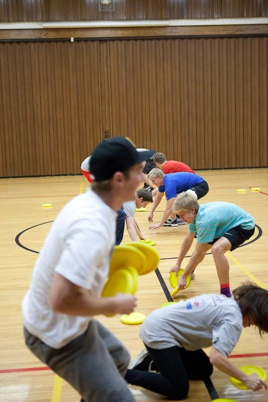 Years/lock in ideas.  Frisbee dodgeball, three deep, other group games    Group games for all ages  Great for Home school groups or parties