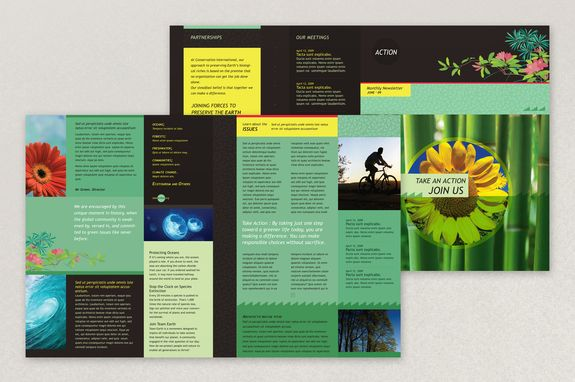 bright environmental non profit newsletter template this colorful