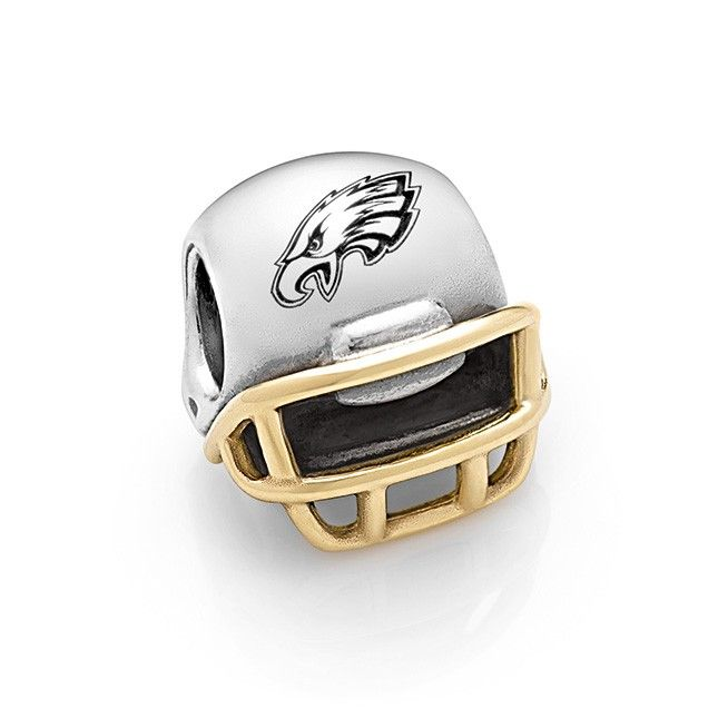 14kt Gold & Sterling Philadelphia Eagles Helmet Charm