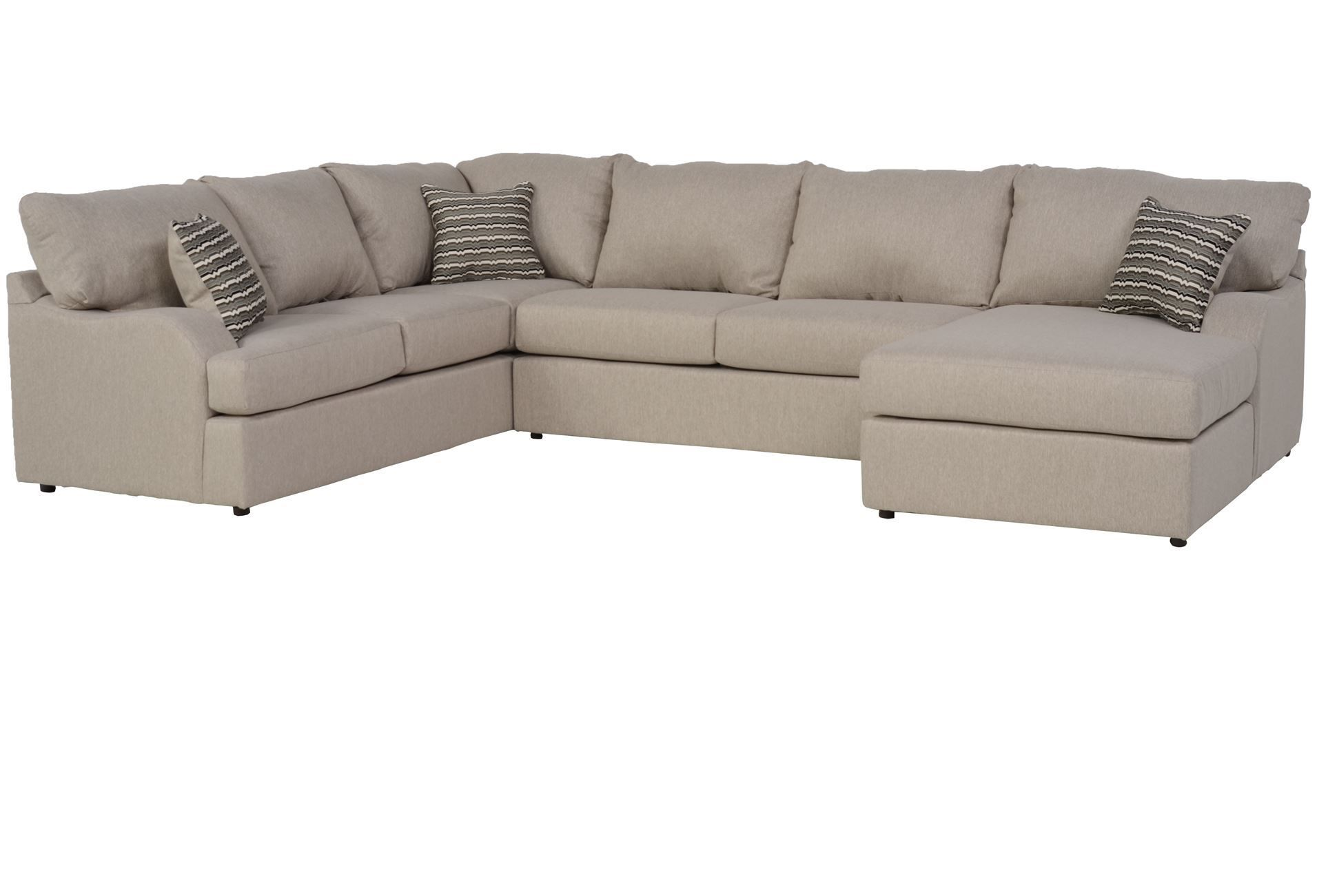 Best Meyer 3 Piece Sectional With Right Arm Facing Chaise 400 x 300