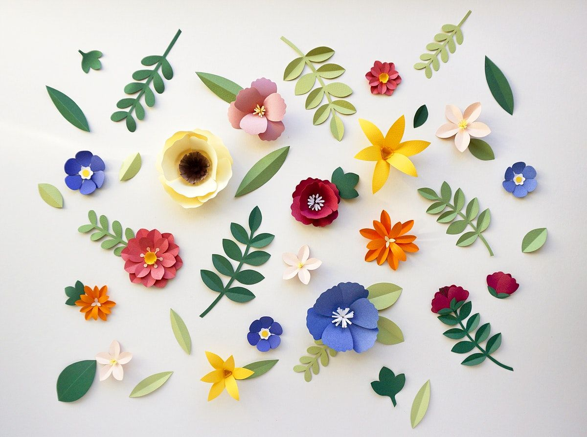 Flower Paper Craft Handmade Collection Premium Image By Rawpixel