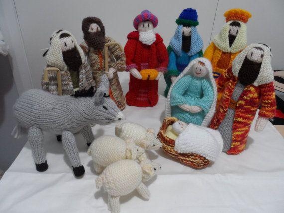 Nativity Set Nativity Scene Knitted Christmas By Fiberartplus