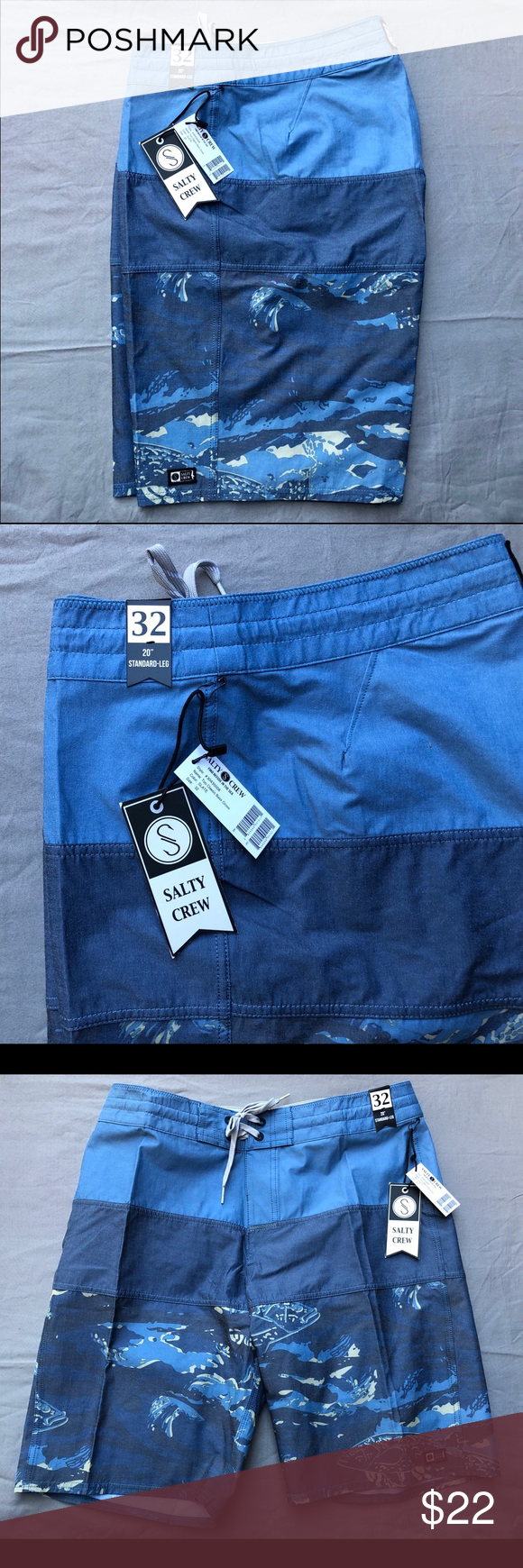 Salty Crew Men's Board Shorts size 32, New Salty Crew men's board shorts/bathing suit/surf trunks. These are new with the tags still on. Salty Cre Swim Board Shorts #mensbathingsuits Salty Crew Men's Board Shorts size 32, New Salty Crew men's board shorts/bathing suit/surf trunks. These are new with the tags still on. Salty Cre Swim Board Shorts #mensbathingsuits