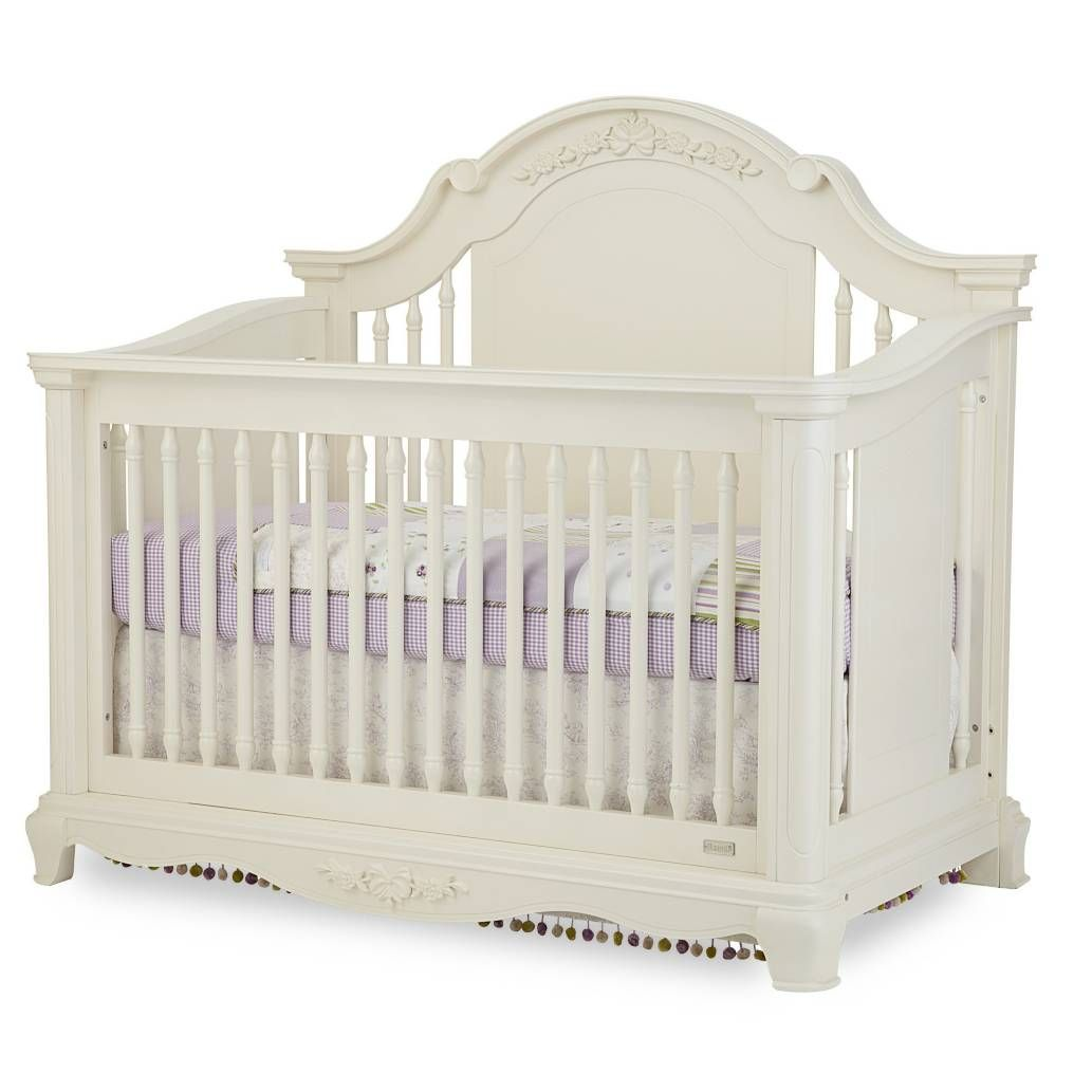 Product Image For BassettbabyR PREMIER Addison 4 In 1 Convertible Crib Pearl White