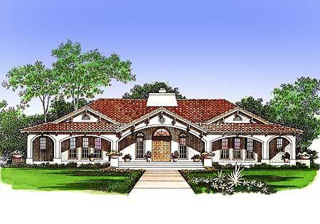 Plan W Central Courtyard Dream Home Plan