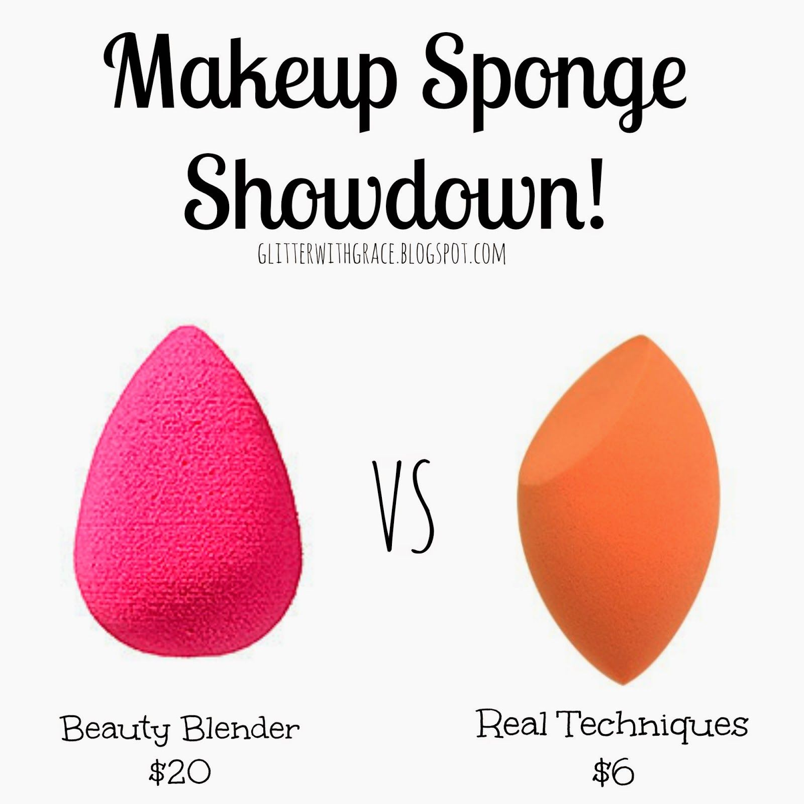 Glitter with Grace Makeup Sponge Showdown! Beauty Blender