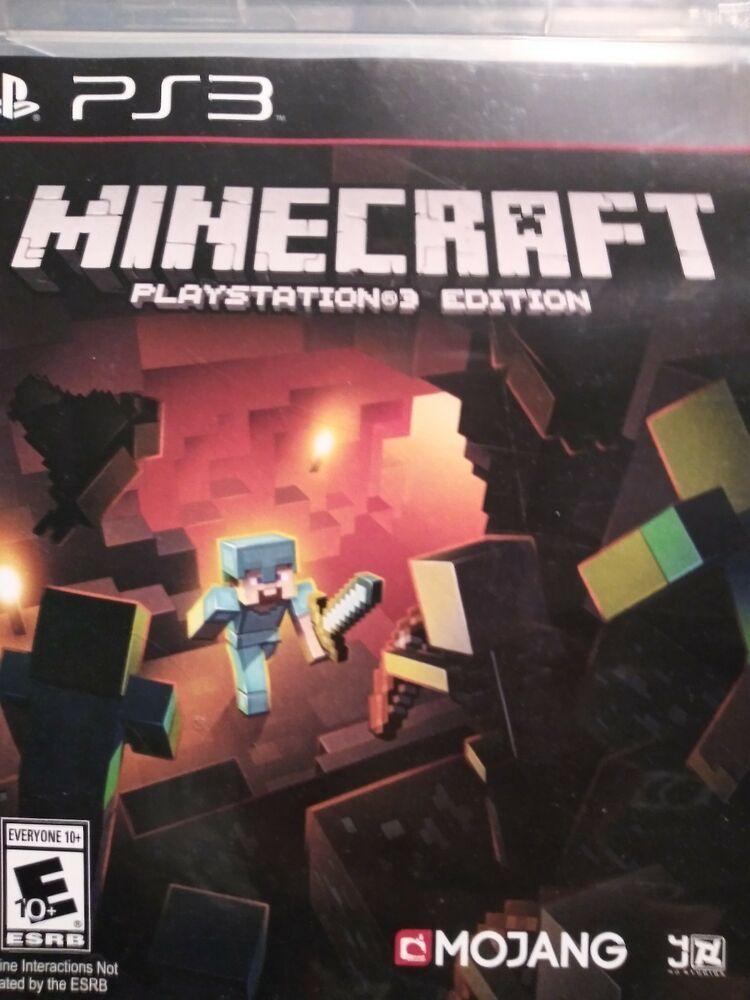 Minecraft Playstation 3 Edition Sony Playstation 3 2014 Ps4 Gaming Video Minecraft Playstation New Video Games