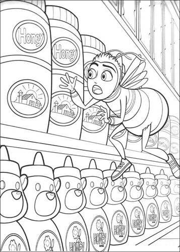 Schöne malvorlage Bee Movie auf Kids-n-Fun in 2020