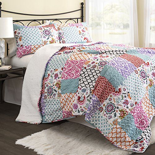 Lush Decor 3 Piece Brookdale Sherpa Quilt/Sleeping Bag Set, Twin, Purple/Turquoise Lush Decor http://www.amazon.com/dp/B00WI0CB1Q/ref=cm_sw_r_pi_dp_mr.Mvb0FP4T3K