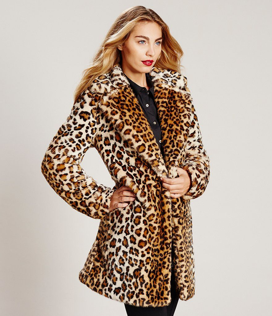 9148ffcd2320 Shop for Calvin Klein Faux Fur Leopard Coat at Dillards.com. Visit  Dillards.com to find clothing, accessories, shoes, cosmetics & more.