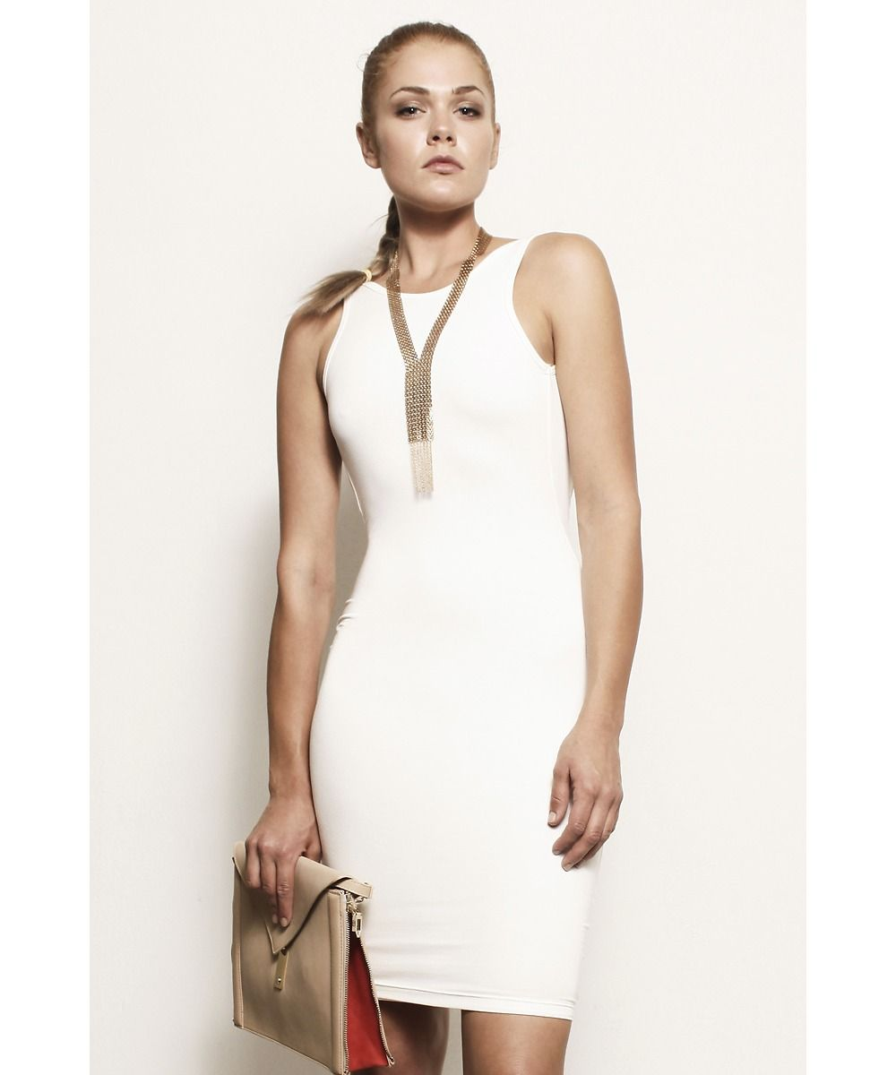 White Samantha, Backless Scoop Tank Dress @ Shop Lately $75 ...
