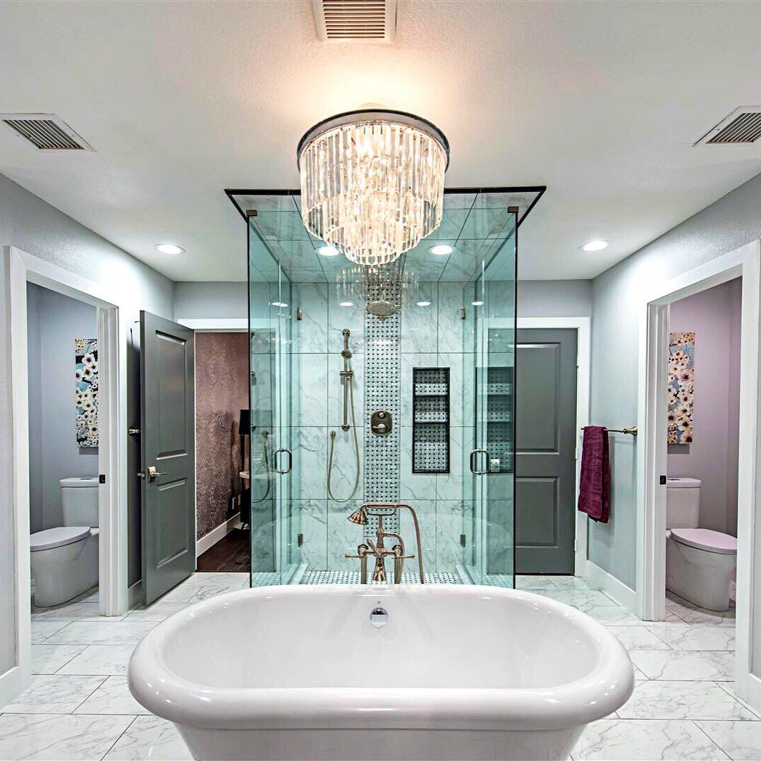 Master Bathroom Ideas For White Interior: I Wanted To Create A Luxurious And Relaxing Retreat In