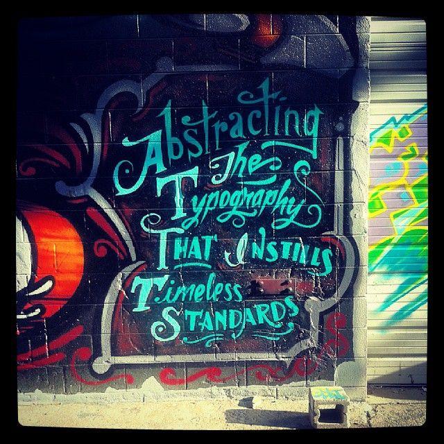 Graffiti On Larimer Street In Denver RiNo District