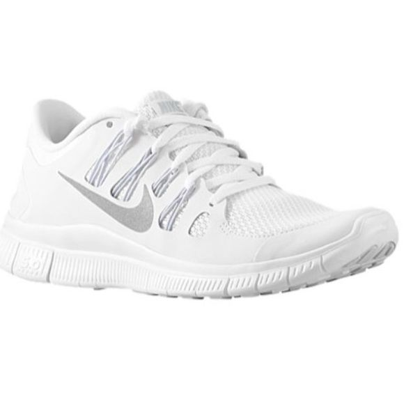 free shipping 0f59e fb7ac ... sale white nike free 5.0 running shoes only been worn a handful of  times in great