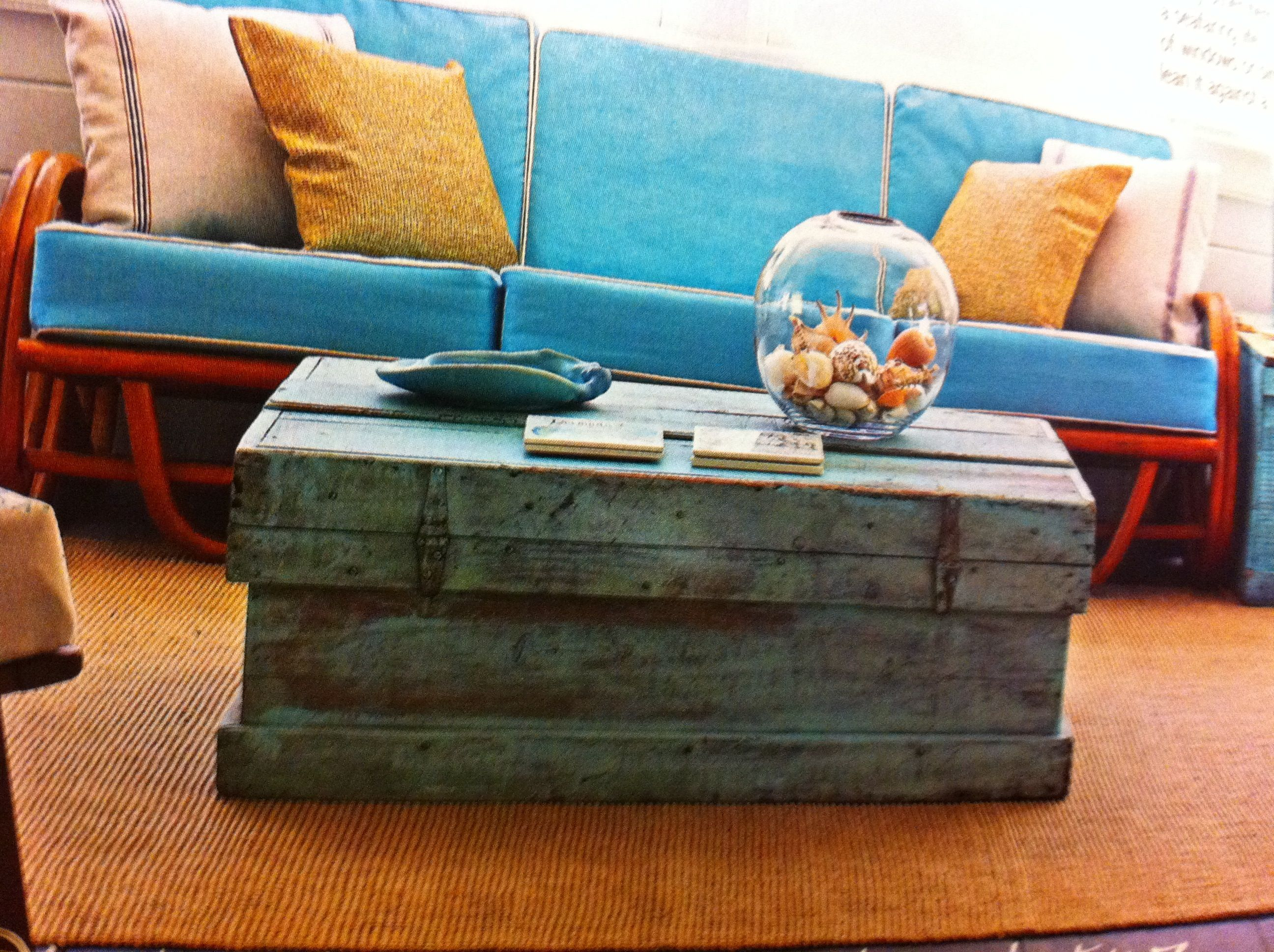 Wooden trunk coffee table decorating Pinterest