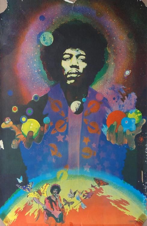 """I made a list of the musicians who had played the most joyous music: 3. Jimi Hendrix, my grandmothers favorite"""