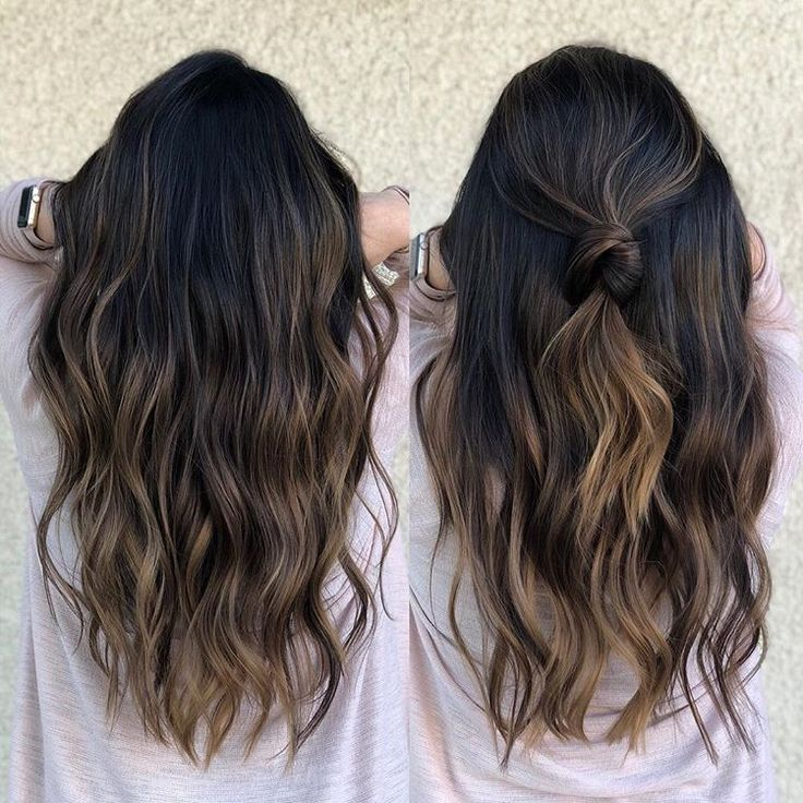 """Photo of Los Angeles Hairstylist/color on Instagram: """"Caramel brown  Warm or cool for winter :) Hair Trim and color by @andrewlovescolor  Foilayage technique to creat this looking"""""""