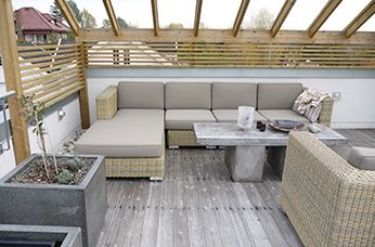 Minimalistisk terrasse Asker