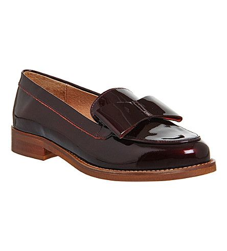 824601dad6e OFFICE Present Bow patent leather loafers