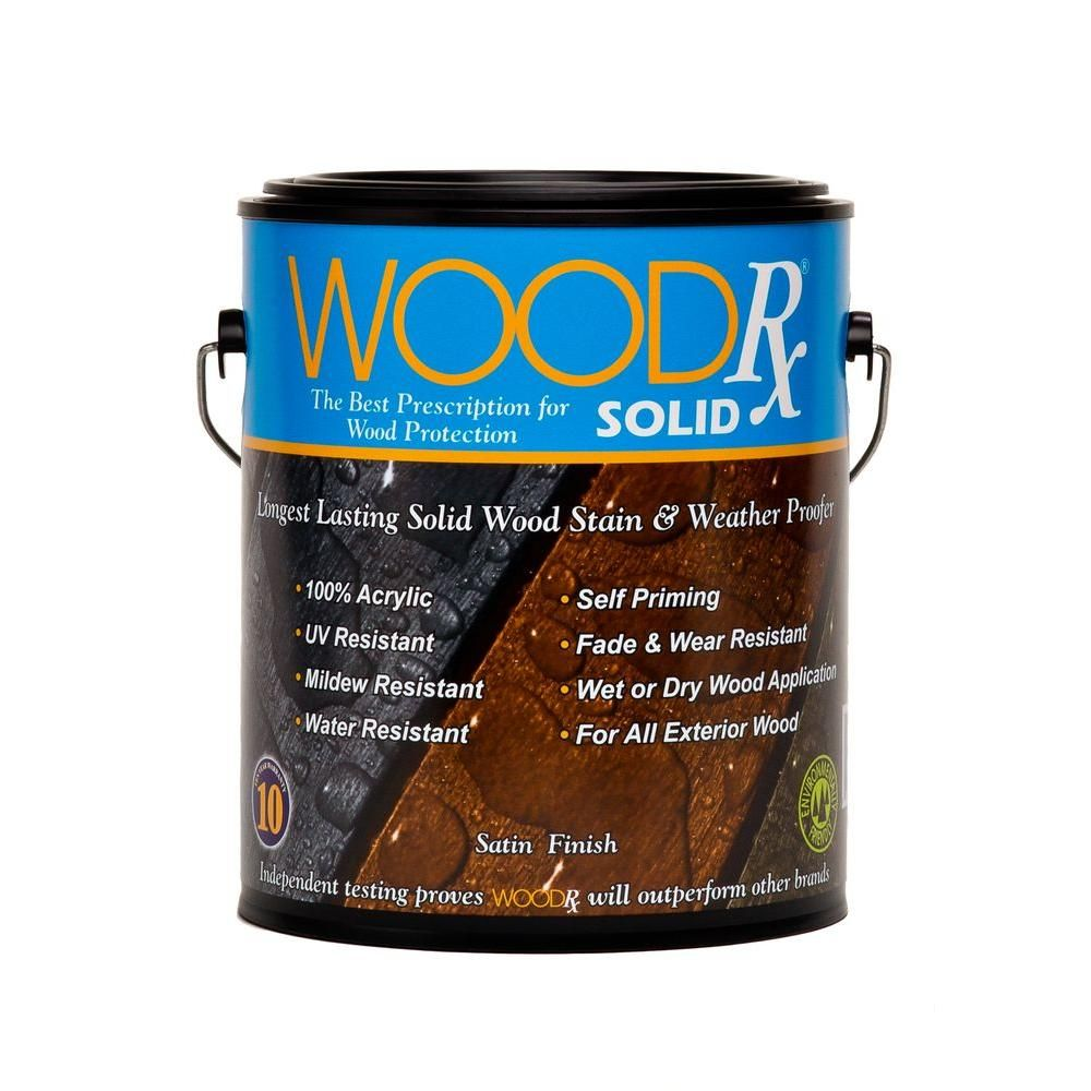 WoodRx 1 Gal. Mahogany Solid Wood Exterior Stain And