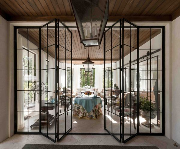 See the light with iron-framed windows This is what I want between kitchen and porch & See the light with iron-framed windows | Pinterest | Porch Iron and ...