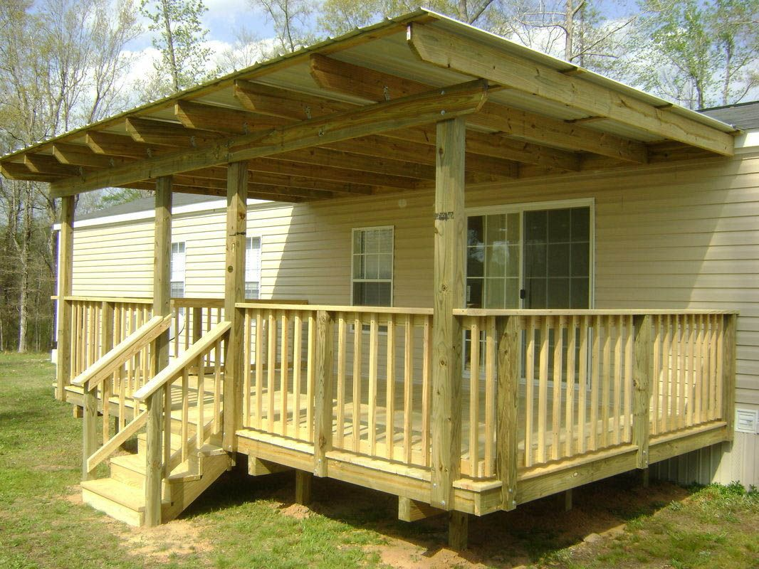 PORCH ROOF DESIGNS AND STYLES Mobile home porch, Front