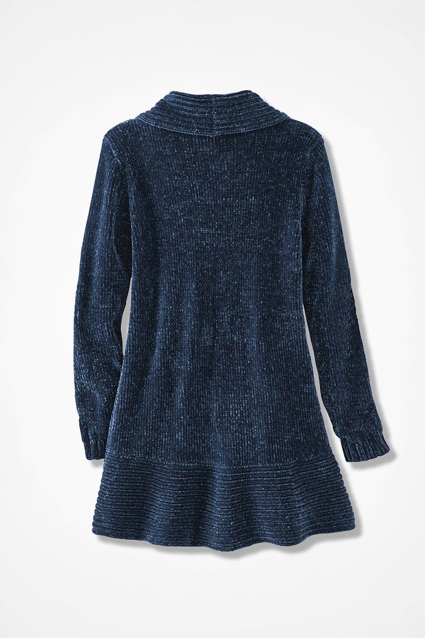 Chenille Embrace Wrap Sweater, Midnight Blue | Classic knitwear ...