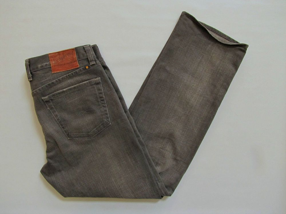 Lucky Brand Jeans 34 32 Mens Denim Gray Vintage Straight Distressed Stretch Reg #LuckyBrand #VintageStraight #fiftyshades #Grayjeans
